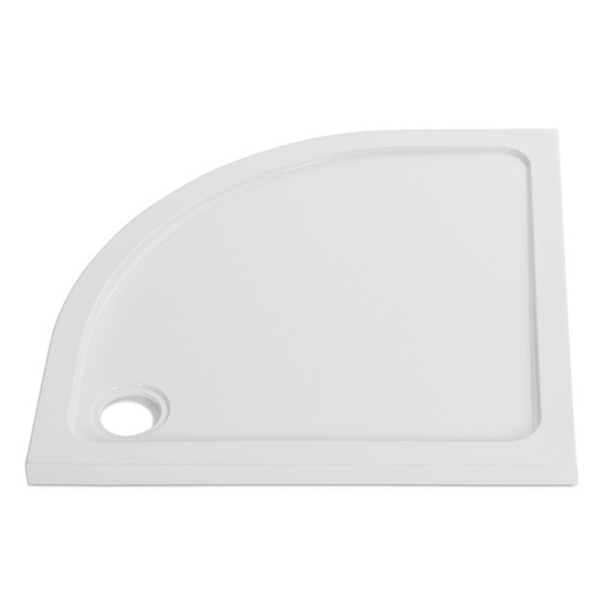 Prestige KT35 Offset Quadrant Shower Tray with Fast Flow Waste 900mm x 760mm - Left Handed