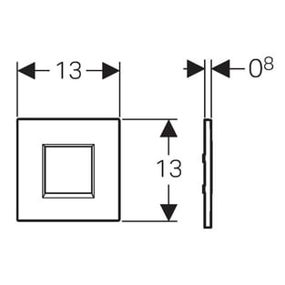 Geberit Sigma30 Urinal Flush Battery - White/Chrome