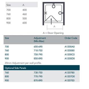 Merlyn Ionic Source Bi-Fold Shower Door 760mm Wide - 4mm Glass