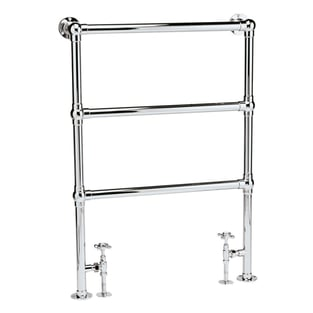 Bayswater Juliet Floor Mounted Traditional Towel Rail 966mm x 676mm Chrome