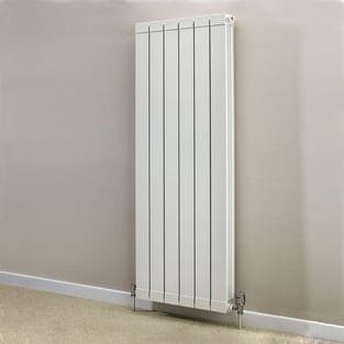 Heatwave Hanworth Vertical Designer Aluminium Radiator 1446mm H x 428mm W - 5 Sections