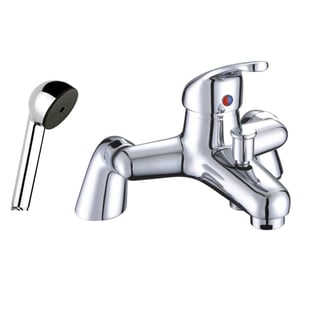 JTP XY Deck Mounted Bath Shower Mixer Tap with Kit - Chrome