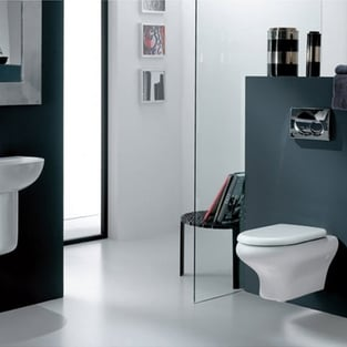 RAK Compact Wall Hung Toilet WC 520mm Projection - Soft Close Seat