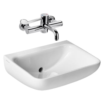 Armitage Shanks Contour 21 Plus Basin with Back Outlet 500mm Wide - 0 Tap Hole
