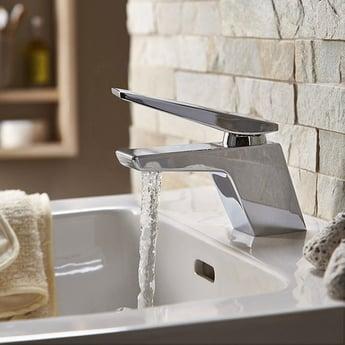 Bristan Sail Mono Basin Mixer Tap Single Handle with Clicker Waste - Chrome