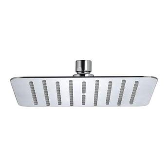Bristan Slimline Square Fixed Shower Head, 200mm x 200mm, Chrome
