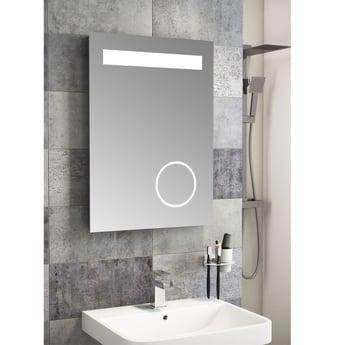 Cali LED Bathroom Mirror 500mm W x 700mm H with Magnifying Mirror