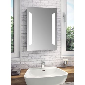 Cali Touch Sensitive LED Tall Bathroom Mirror 500mm W x 700mm H with De-mister Pad