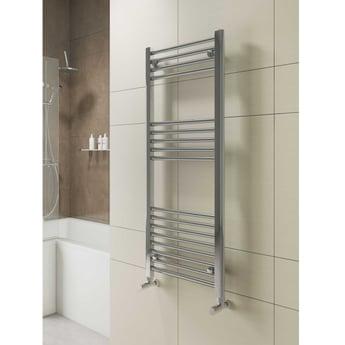Cali York Flat Heated Towel Rail 1000mm H x 600mm W Chrome