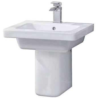 Duchy Ivy Basin with Semi-Pedestal, 550mm Wide, 1 Tap Hole