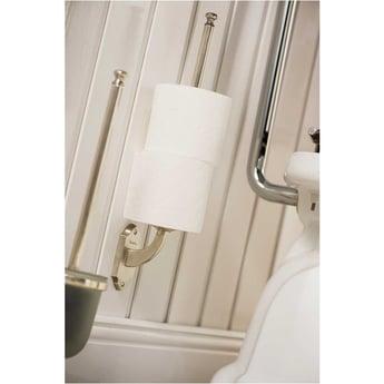 Haceka Vintage Spare Toilet Roll Holder - Silver