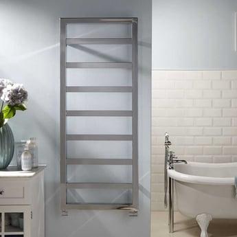 Heatwave Kensington Designer Heated Towel Rail 900mm H x 530mm W - Chrome