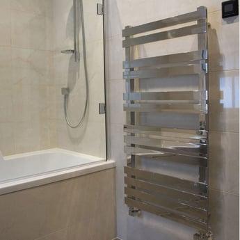 Heatwave Octagon Designer Heated Towel Rail Steel 750mm H x 500mm W - Chrome
