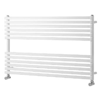 Heatwave Oxfordshire Horizontal Heated Towel Rail 600mm H x 1000mm W - White