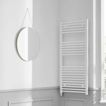 Heatwave Richmond Electric Straight Towel Rail 1186mm H x 600mm W - White