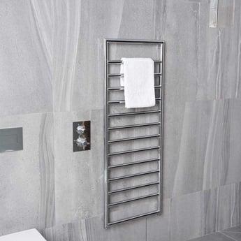 Heatwave Strand Designer Heated Towel Rail 900mm H x 500mm W - Chrome