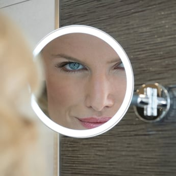 HiB Eclipse Led Magnifying Mirror with Rocker Switch - Round