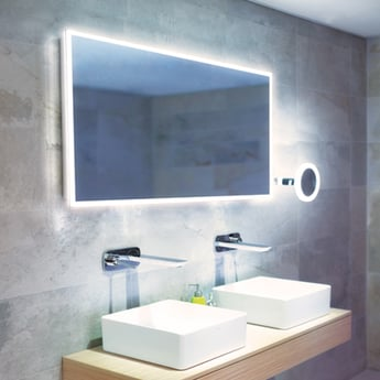 HiB Globe 120 Illuminated LED Bathroom Mirror 600mm H x 1200mm W