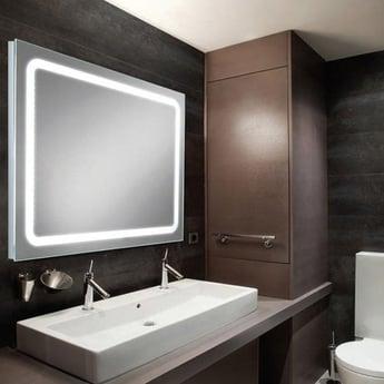 HiB Scarlet LED Back-Lit Bathroom Mirror 600mm H x 800mm W