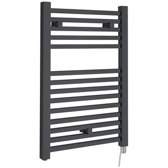 Heatwave Electric Heated Towel Rail 690mm H x 500mm W - Anthracite