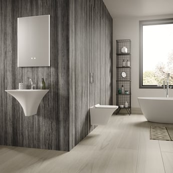 Hudson Reed Grace Wall Hung Cloakroom Basin 460mm Wide - 1 Tap Hole