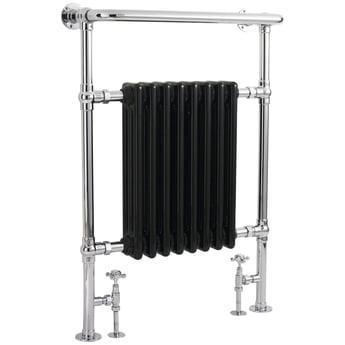 Hudson Reed Marquis Radiator Heated Towel Rail 960mm H x 675mm W Chrome/Black