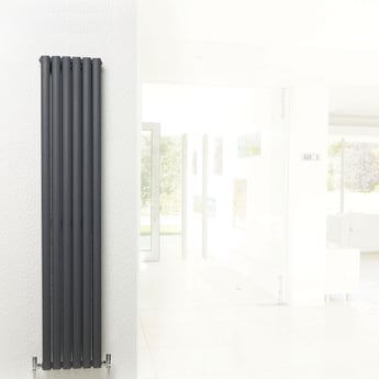 Hudson Reed Revive Double Designer Vertical Radiator 1800mm H x 354mm W Anthracite