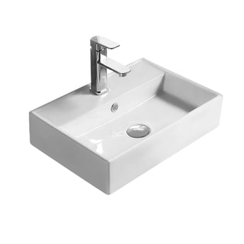 Hudson Reed Vessel Sit-On Countertop Basin 500mm Wide - White
