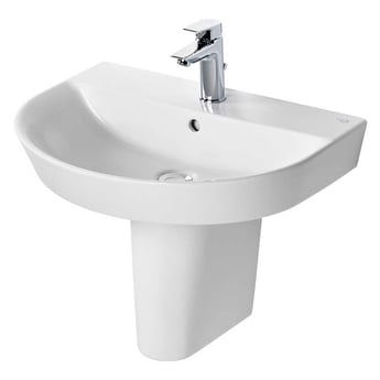 Ideal Standard Concept Air Arc Basin with Semi Pedestal 600mm Wide - 1 Tap Hole