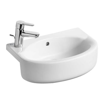 Ideal Standard Concept Space Arc Semi-Countertop Left Handed Basin 500mm 1 Tap Hole