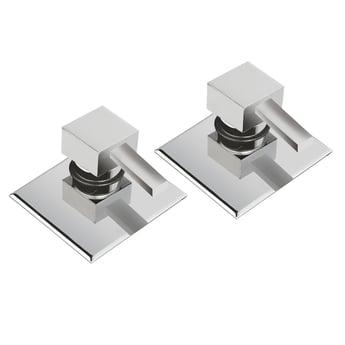 JTP Kubix Concealed Spout Valves, Pair, Chrome