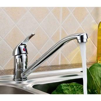 JTP Topmix Mono Kitchen Sink Mixer Tap, Single Handle, Swivel Spout, Chrome