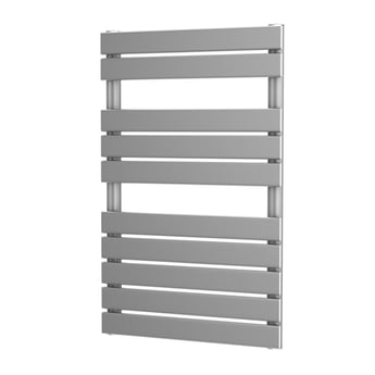 MaxHeat Deshima Vertical Towel Rail, 816mm High x 500mm Wide, Silver