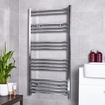MaxHeat G4K Straight Heated Towel Rail 1200mm H x 500mm W - Chrome