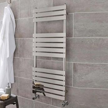 Maxheat Memphis Designer Towel Rail 1200mm H x 500mm W Chrome