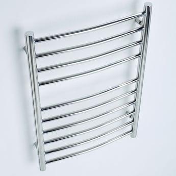 MaxHeat Ripley Curved Heated Towel Rail 1500mm H x 500mm W Stainless Steel