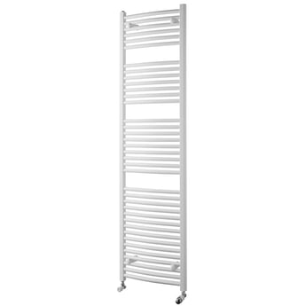 MaxHeat Trade Curved Heated Towel Rail - 1800mm High x 600mm Wide - White