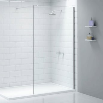 Merlyn Ionic Wet Room Glass Shower Panel 760mm Wide - 8mm Glass