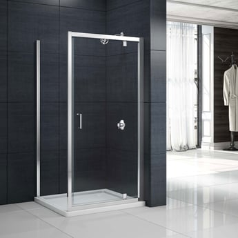Merlyn Mbox Pivot Shower Door 760mm - 6mm Clear Glass