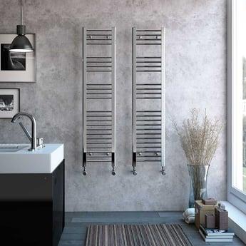 Radox Premier Straight Heated Towel Rail 1200mm H x 600mm W - Chrome