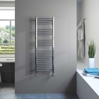Radox Premier XL Straight Heated Towel Rail 1800mm H x 600mm W - Stainless Steel
