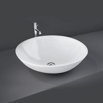 RAK Diana Sit-On Countertop Basin 420mm Wide - 0 Tap Hole