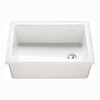 RAK Laboratory 3 Ceramic Belfast Kitchen Sink 1.0 Bowl 585mm L x 380mm W - White