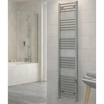RAK Metropolitan Straight Ladder Towel Rail 1200mm H x 400mm W - Chrome