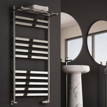 Reina Alento Designer Heated Towel Rail 1450mm H x 530mm W Polished Stainless Steel