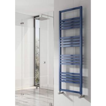 Reina Bolca Designer Heated Towel Rail 1530mm H x 485mm W Blue Satin