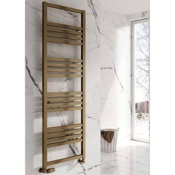 Reina Bolca Designer Heated Towel Rail 1530mm H x 485mm W Bronze Satin
