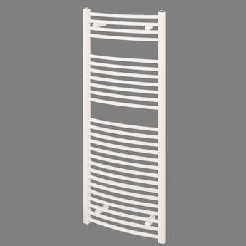 Reina Diva Curved Heated Towel Rail 1800mm H x 600mm W White