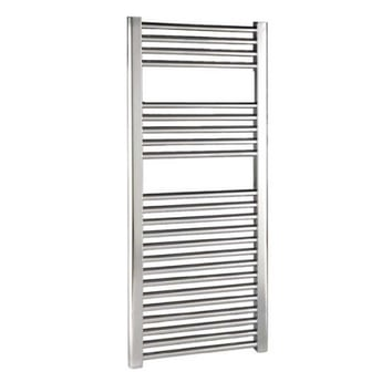 Reina Diva Thermostatic Electric Straight Heated Towel Rail 800mm H x 600mm W Chrome