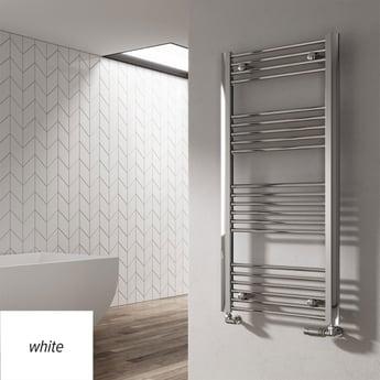 Reina Divale Straight Heated Towel Rail 1200mm H x 530mm W White